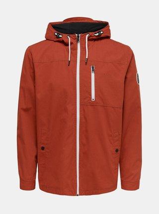 Oranžová bunda ONLY & SONS Bjorn