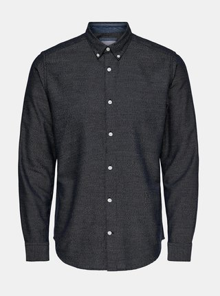 Tmavomodrá košeľa ONLY & SONS Ted