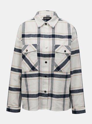 Krémová kockovaná košeľa TALLY WEiJL