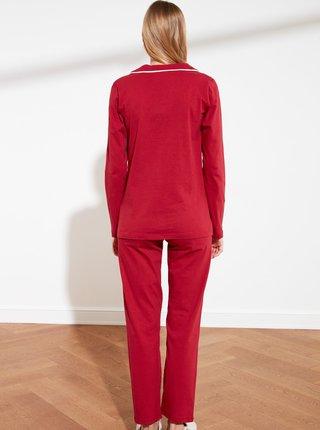 Červené pyžamo Trendyol