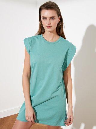 Mentolové šaty Trendyol