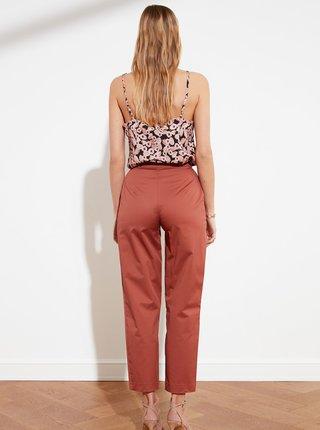 Cihlové zkrácené kalhoty Trendyol