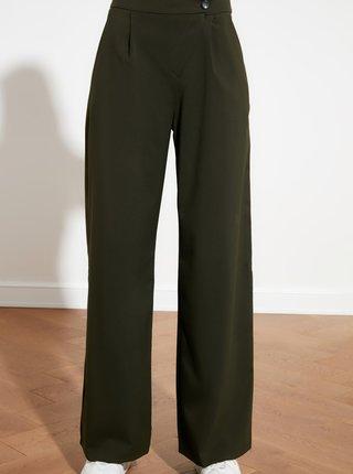 Khaki široké kalhoty Trendyol