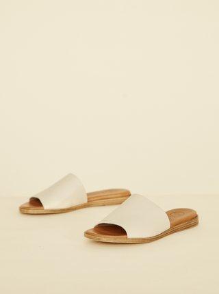 Krémové kožené pantofle OJJU Helsinki