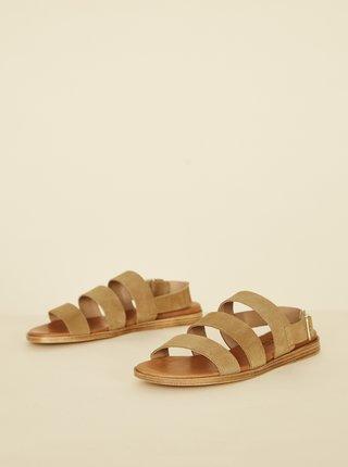 Světle hnědé semišové sandály OJJU Serraje