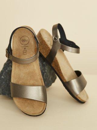 Šedohnědé dámské sandálky OJJU