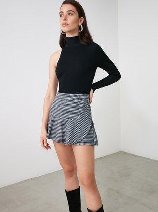 Šedá vzorovaná sukňa Trendyol