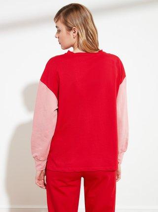 Červená mikina Trendyol