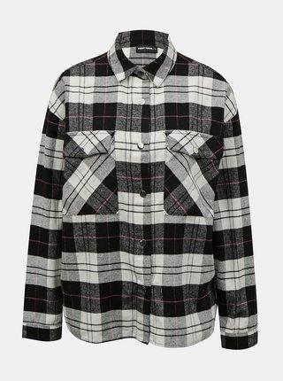 Čierno-šedá kockovaná košeľa TALLY WEiJL