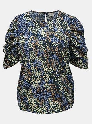 Zeleno-modrá květovaná halenka Jacqueline de Yong Mia