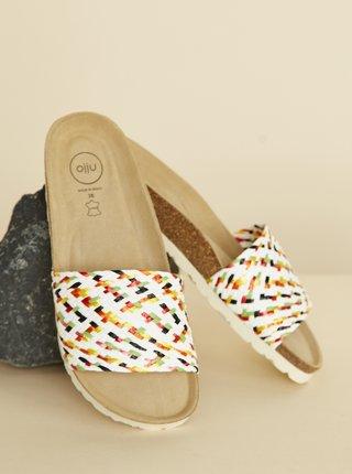 Bílé dámské pantofle OJJU