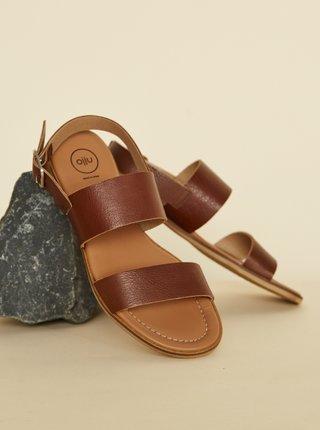 Hnědé kožené sandály OJJU Beta
