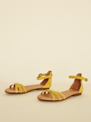 Žlté semišové sandále OJJU