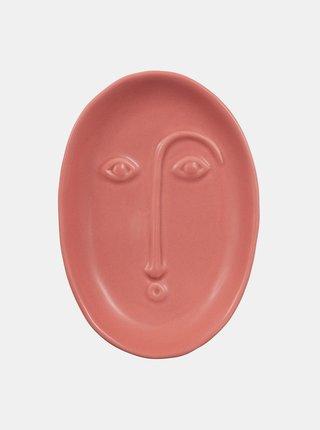 Červený talířek ve tvaru obličeje Sass & Belle