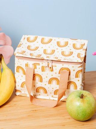 Oranžový vzorovaný box na jedlo Sass & Belle