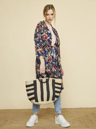 Tmavě modré dámské květované kimono ZOOT Fifi