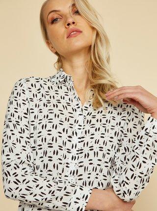 Bílé vzorované košilové midišaty ZOOT Lexi