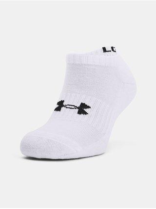 Ponožky Under Armour Core No Show 3Pk - bílá