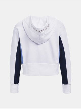 Mikina Under Armour Rival Fleece EMB Hoodie - bílá