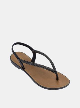 Grendha černé žabky Tropicalia Sandal Black/Brown