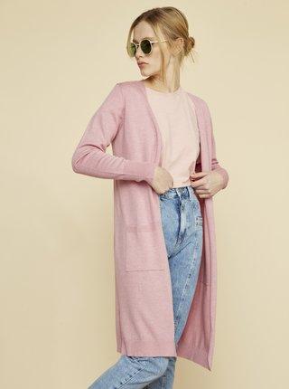 Růžový dámský kardigan s kapsami ZOOT Piper