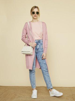 Ružový dámsky kardigan s vreckami ZOOT Piper