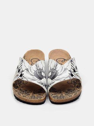 Calceo biele šľapky Casual Slippers BW
