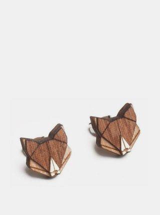 Dřevěné náušnice Fox Earrings BeWooden