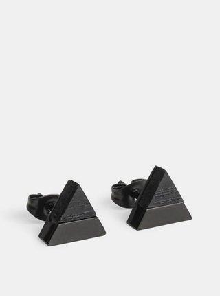 Náušnice s dřevěným detailem Nox Earrings Triangle BeWooden