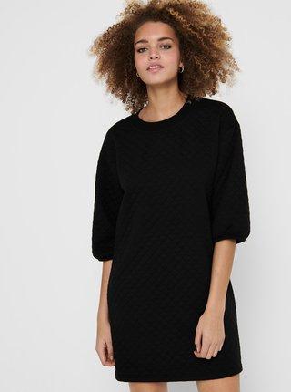 Čierne mikinové šaty Jacqueline de Yong Napa