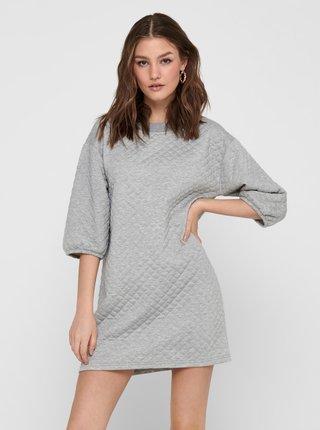 Světle šedé mikinové šaty Jacqueline de Yong Napa