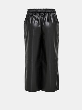 Čierne koženkové culottes Jacqueline de Yong Sharon