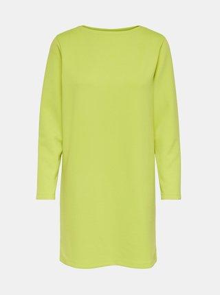 Zelenožluté mikinové šaty Jacqueline de Yong Bella