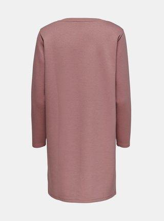 Starorůžové mikinové šaty Jacqueline de Yong Bella