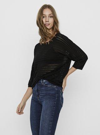 Čierny dlhý ľahký sveter VERO MODA Yoyo
