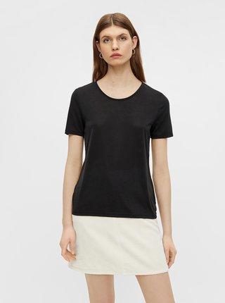Černé basic tričko Pieces Kamala