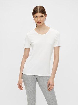 Biele basic tričko Pieces Kamala