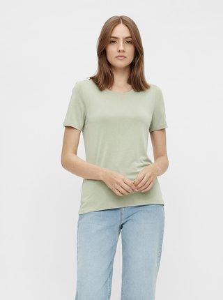 Svetlozelené basic tričko Pieces Kamala