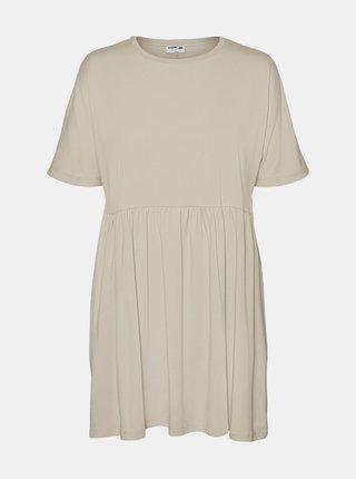 Béžové volné šaty Noisy May Kerry