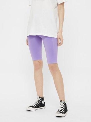 Fialové krátké legíny Pieces Biker shorts