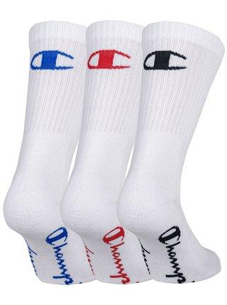CHAMPION CREW SOCKS FASHION COLORED LOGO 3x - Sportovní ponožky 3 páry - bílá