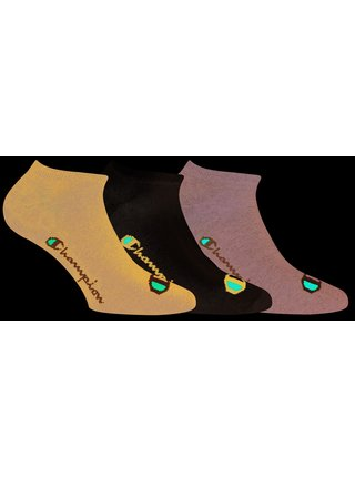 CHAMPION NO SHOW SOCKS LEGACY 3x - Nízké sportovní ponožky 3 páry - tmavě modrá - bílá - tmavě šedá