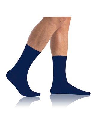 Pánské ponožky BAMBUS COMFORT SOCKS - Bambusové klasické pánské ponožky - modrá