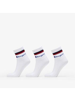 3PACK ponožky Champion bílé