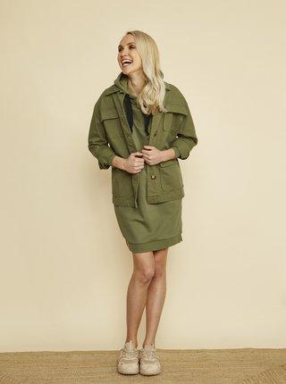 Khaki mikinové šaty s kapucí ZOOT Vivian