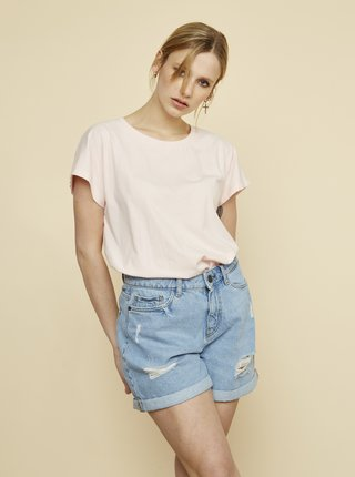 Světle růžové dámské dlouhé tričko ZOOT Leah