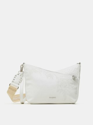 Desigual biele crossbody kabelka Bols Luna Rock Loverty