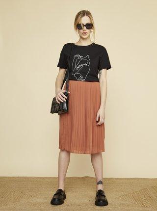 Černé dámské tričko s potiskem ZOOT Susane
