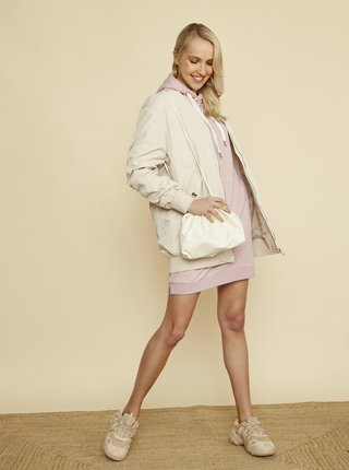 Světle růžové mikinové šaty s kapucí ZOOT Kirsten