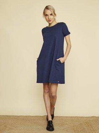 Tmavomodré šaty s vreckami ZOOT Baseline Ambra